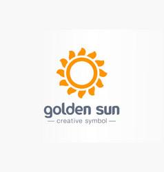 golden sun rays creative symbol concept vector image