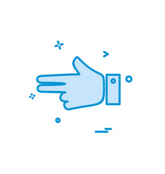 hands icon design vector image
