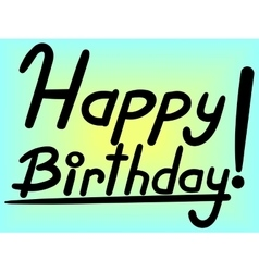 Happy Birthday lettering vector image