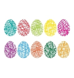Happy Easter Background with eggs vector image