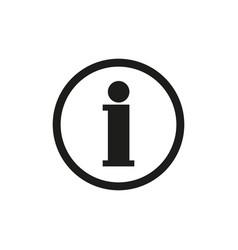 icon information vector image