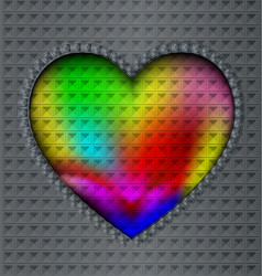 image of colored heart vector image