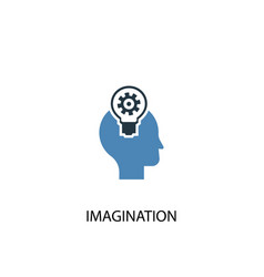 imagination concept 2 colored icon simple blue vector image