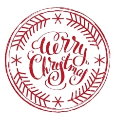 Impress printing stamp Merry Christmas vector