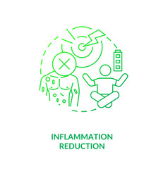 Inflammation reduction dark green concept icon vector