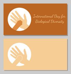 International day for biological diversity a man vector