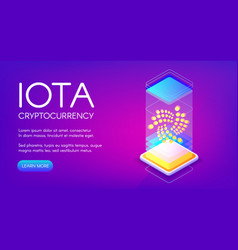 iota cryptocurrency vector image