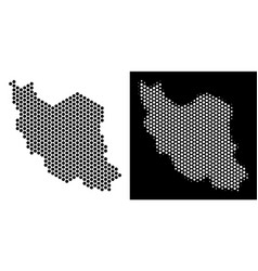 iran map hexagonal mosaic vector image