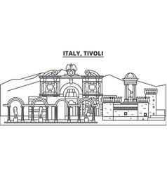 italy tivoli line skyline vector image