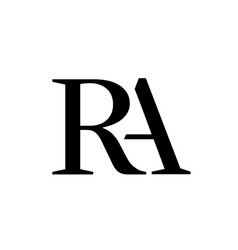 letter a behind r overlap logo simple style vector image