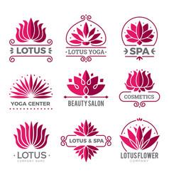 lotus logotype nature botanical graphic symbols vector image