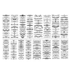 Mega set 200 doodle sketch drawing divider vector