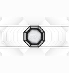 Mma octagon cage vector