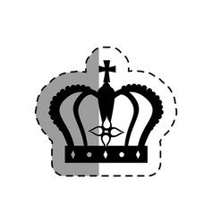 monarch crown isolated icon vector image