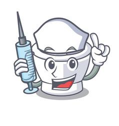 Nurse mortar character cartoon style vector