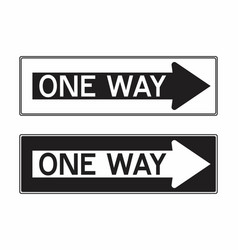 one way traffic sign vector image