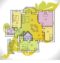 plan of apartment vector image