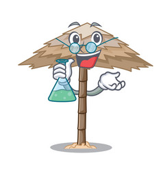 Professor character tropical sand beach shelter vector
