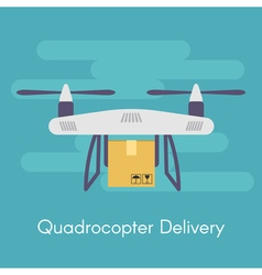 quadrocopter or drone Concept for quadrocopter vector image