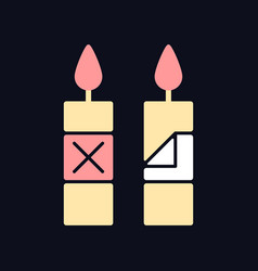 Remove candle packaging before use rgb color vector