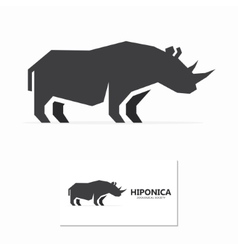rhino label or logo designs vector image