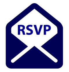 Rsvp color icon vector