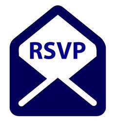 rsvp color icon vector image