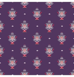 russian tea pot symbol seamless pattern vector image