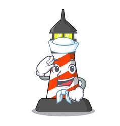 Sailor lighthouse character cartoon style vector