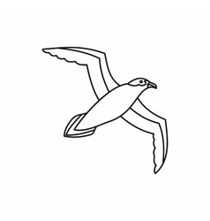 Seagull icon outline style vector