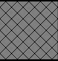 Seamless black and white square grid pattern vector