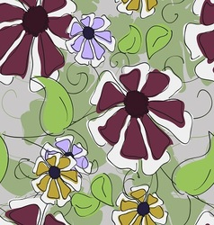 seamless texture of flowers vector image vector image