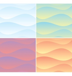 Set of Soft Waving Backgrounds Graphics vector