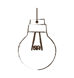 sketch draw bulb light idea creativity vector image