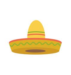Sombrero - mexican hat colorful flat icon vector