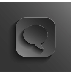 Speech icon - black app button vector image