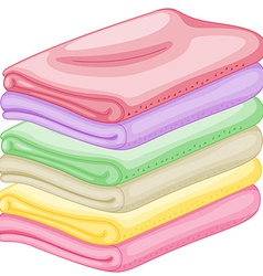 Stack of towels vector