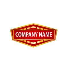 Stylish banner logo vector
