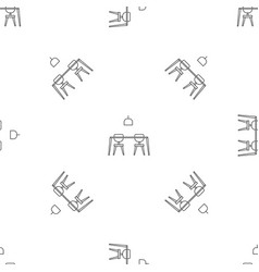 table and chairs pattern seamless vector image
