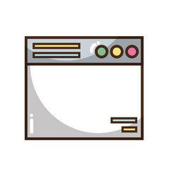 Technology window element and website document vector