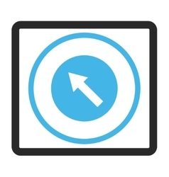 Up-Left Rounded Arrow Framed Icon vector