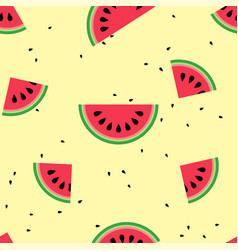 watermelon with seamless pattern design vector image