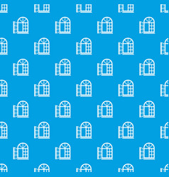 Window frame pattern seamless blue vector