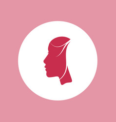 woman beautiful face profile icon vector image