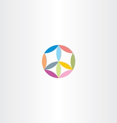 colorful circle abstract peace symbol vector image