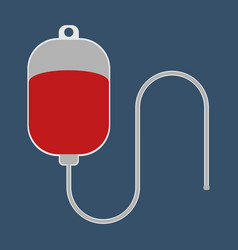 dropper with blood medical object flat icon vector image vector image