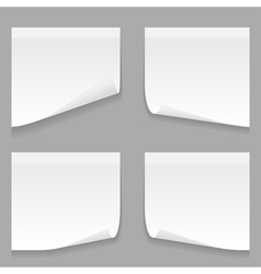 gray stick note set vector image vector image