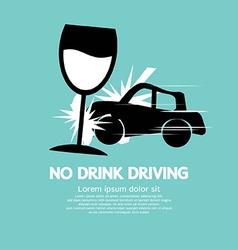 No Drink Driving vector image vector image