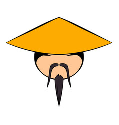chinese man icon cartoon vector image