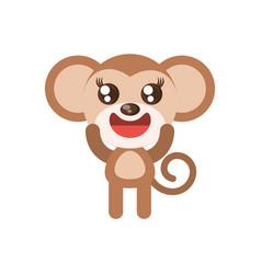 kawaii monkey animal toy vector image vector image